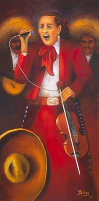 Painting - Mariachi Singer by Herman Sillas