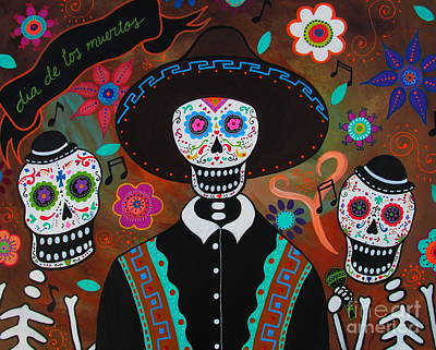 Painting - Tres Cantantes Muertos by Pristine Cartera Turkus