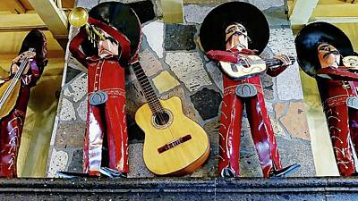 Digital Art - Mariachis On Stage by Joseph Hendrix