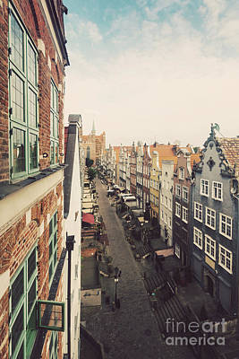 Photograph - Mariacka Street Seen From The Top Of Viewing Tower. by Michal Bednarek