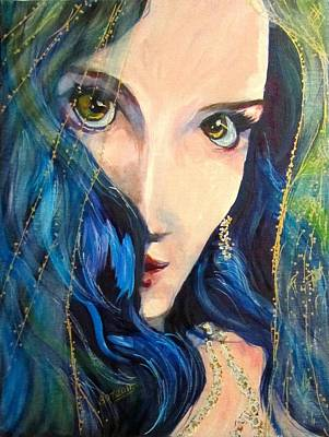 Mariah Blue Art Print by Barbara O'Toole