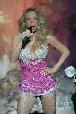 Mariah Carey Photograph - Mariah Carey Oil Painting Enlargements by Concert Photos
