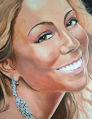 Nick Cannon Painting - Mariah Carey by Timothe Winstead