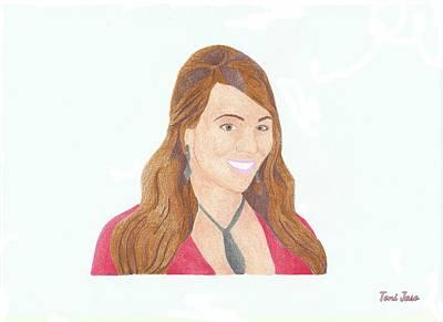 Hop Drawing - Mariah Carey by Toni Jaso