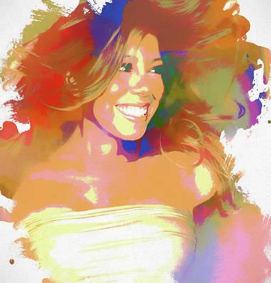 Painting - Mariah Carey Watercolor by Dan Sproul