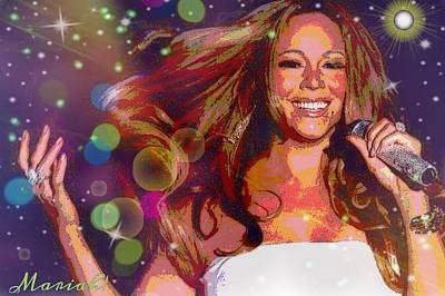 Digital Art - Mariah by Karen Buford
