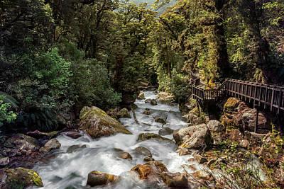 Marian Photograph - Marian Cascade New Zealand II by Joan Carroll