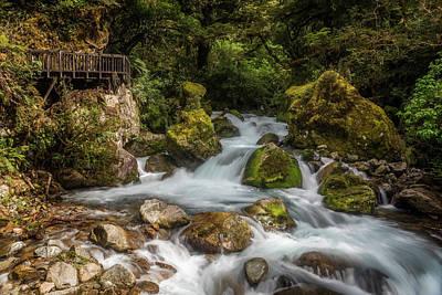 Marian Photograph - Marian Cascade New Zealand by Joan Carroll