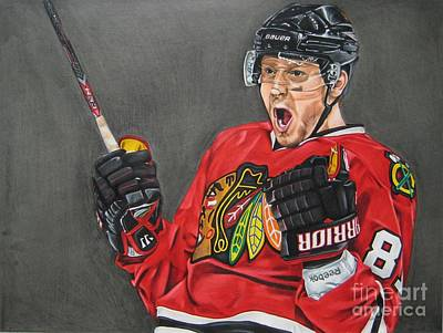 Chicago Blackhawks Drawing - Marian Hossa by Brian Schuster