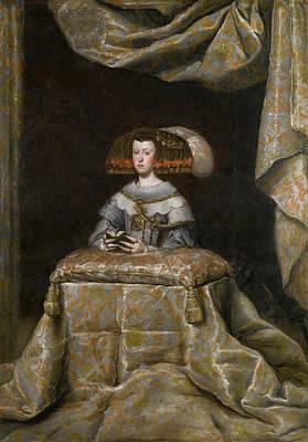 Prayer Painting - Mariana De Austria In Prayer by Diego Velazquez