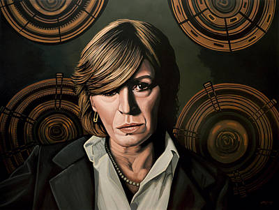 Mick Jagger Painting - Marianne Faithfull Painting by Paul Meijering