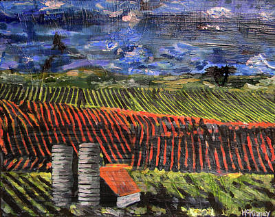 Art Print featuring the mixed media Marianne's Vineyard by Lisa McKinney
