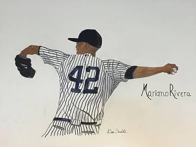 New York Yankees Drawing - Mariano Rivera by Dana Scarlatos