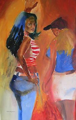 Maria's Glare Art Print