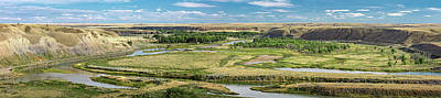 Photograph - Marias River Valley Panorama by Todd Klassy