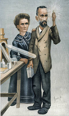 Photograph - Marie And Pierre Curie by Granger