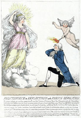 Drawing - Marie Antoinette And Edmund Burke. by Granger
