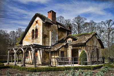 Photograph - Marie Antoinette Cottage In Versailles by David Smith