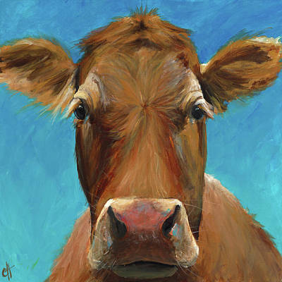 Cow Face Painting - Marie  by Cari Humphry