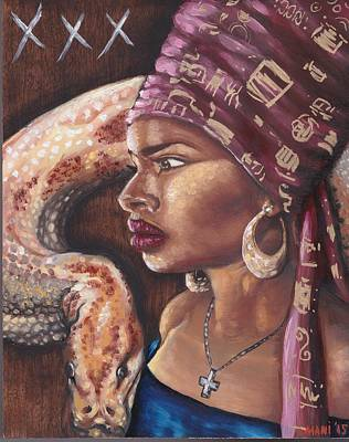 Painting - Marie Catherine Laveau by Mani Price