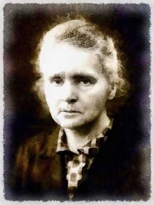 Einstein Painting - Marie Curie, Scientist by John Springfield