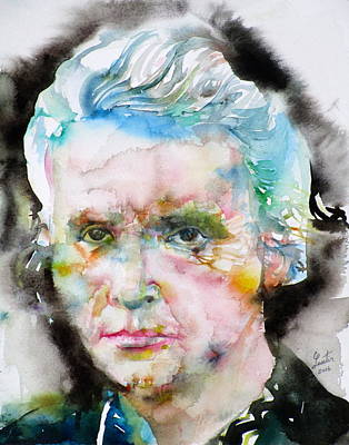 Marie Curie - Watercolor Portrait Original