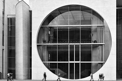 Photograph - Marie Elisabeth Luders Haus  Monochrome by Marek Stepan