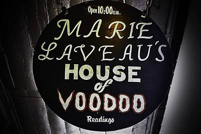 Photograph - Marie La Veau's House Of Voodoo by Nadalyn Larsen