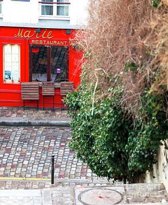 Photograph - Marie Restaurant Paris by John Rizzuto