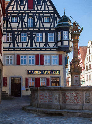 Photograph - Marien Apotheke Rothenburg by Shirley Radabaugh