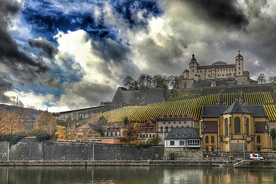 Digital Art - Marienberg Fortress, Wurzburg, Germany by Jim Pavelle