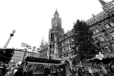 Photograph - Marienplatz Christkindlmarkt by John Rizzuto