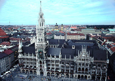 Marienplatz Photograph - Marienplatz  City Hall Munich by Tom Wurl