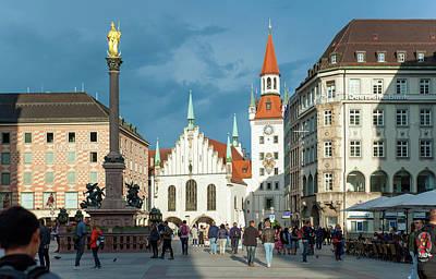Photograph - Marienplatz Munich by Dennis Ludlow