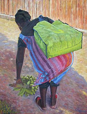 Painting - Woman At Her Chores by Ritchie Eyma