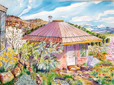 Painting - Marie's Straw Bale House by Annie Gibbons