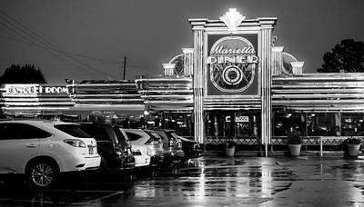 Photograph - Marietta Diner In Black And White by Anthony Doudt