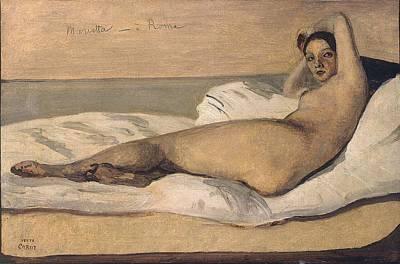 Marietta Art Print by Jean-Baptiste-Camille Corot