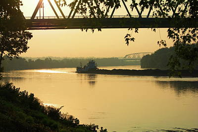 Coal Barge Photograph - Marietta Morning by Russ L Busse