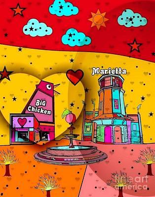 Digital Art - Marietta Popart 2018 By Nico Bielow  by Nico Bielow