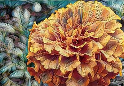 Digital Art - Marigold by Caryl J Bohn