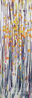 Monochrome Landscapes - Marigolds by Cheryle Gannaway