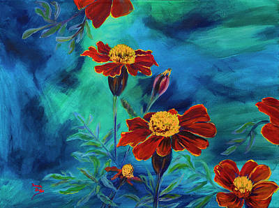 Painting - Marigolds by Donna Drake