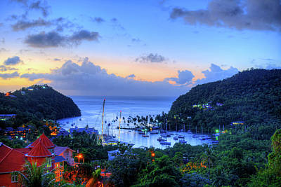 Photograph - Marigot Bay Sunset Saint Lucia Caribbean by Toby McGuire