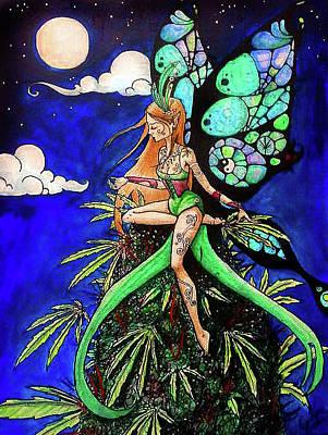Carolyn Anderson Painting - Marijuana Fairy by Carolyn Anderson