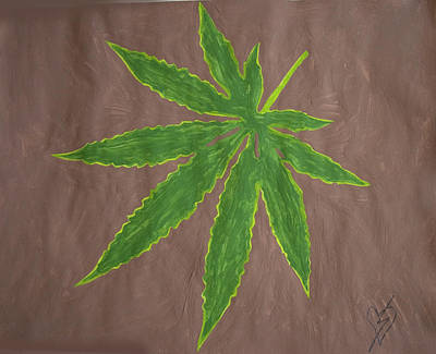 Marijuana Painting - Marijuana Leaf by Stormm Bradshaw