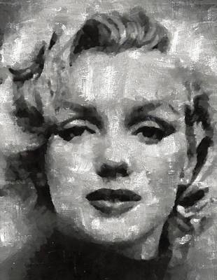 Actors Royalty-Free and Rights-Managed Images - Marilin Monroe by Mary Bassett by Mary Bassett