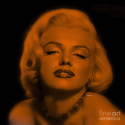 Digital Art - Marilyn Monroe In Copper Blonde. Pop Art by Rafael Salazar
