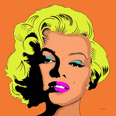 Digital Art - Marilyn-3 by Marlene Watson