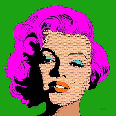 Digital Art - Marilyn-4 by Marlene Watson